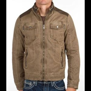 XRAY Jeans Baxter Tan Canvas Jacket Fleece Lining